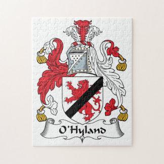 Escudo de la familia de O'Hyland Puzzle Con Fotos