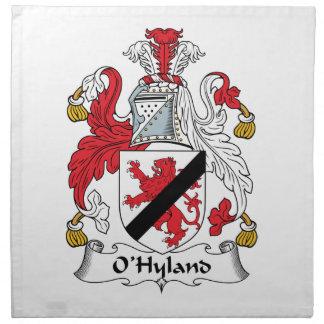 Escudo de la familia de O'Hyland Servilleta