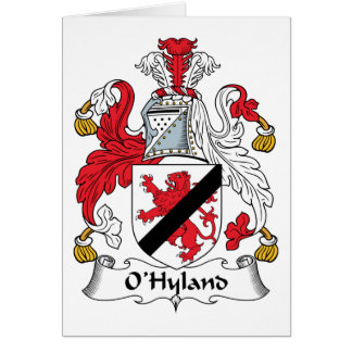 Escudo de la familia de O'Hyland Tarjeta De Felicitación