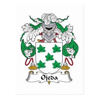 Escudo de la familia de Ojeda Postal