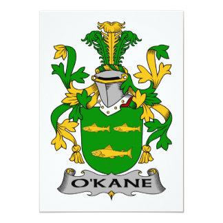 """Escudo de la familia de O'Kane Invitación 5"""" X 7"""""""