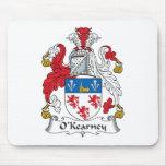 Escudo de la familia de O'Kearney Alfombrillas De Ratón