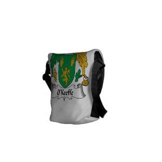 Escudo de la familia de O'Keefe Bolsas De Mensajería