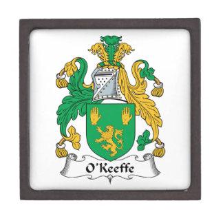 Escudo de la familia de O'Keefe Cajas De Recuerdo De Calidad