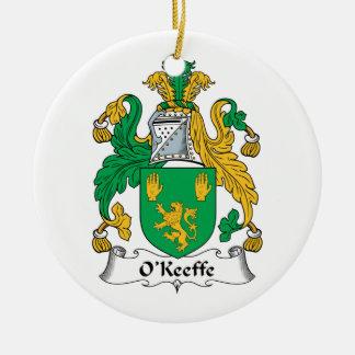 Escudo de la familia de O'Keefe Ornamentos De Navidad