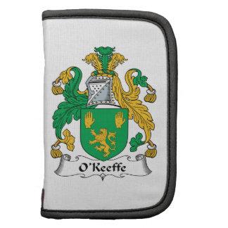 Escudo de la familia de O'Keefe Planificador