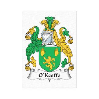 Escudo de la familia de O'Keefe Impresiones En Lona