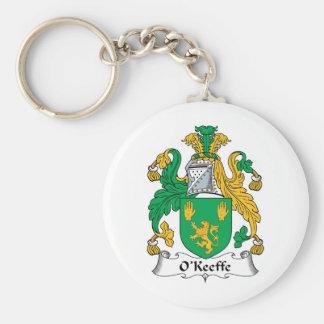 Escudo de la familia de O'Keefe Llaveros