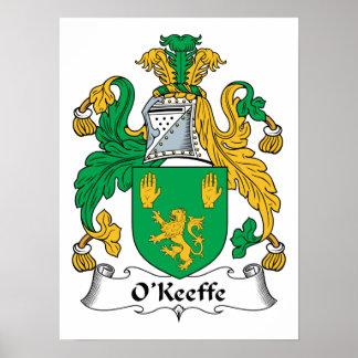 Escudo de la familia de O'Keefe Impresiones