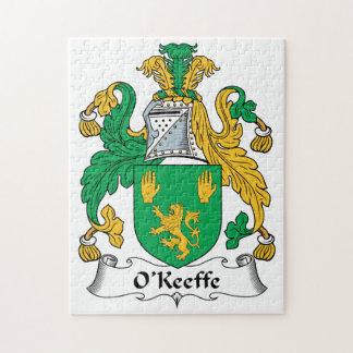 Escudo de la familia de O'Keefe Rompecabezas Con Fotos