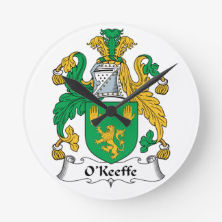 Escudo de la familia de O'Keefe Reloj De Pared