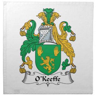 Escudo de la familia de O'Keefe Servilleta
