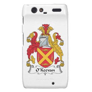 Escudo de la familia de O'Keevan Motorola Droid RAZR Funda