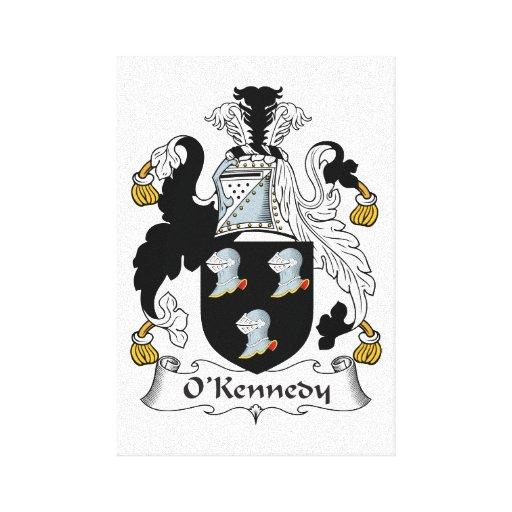 Escudo de la familia de O'Kennedy Impresion De Lienzo