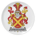 Escudo de la familia de O'Kevane Platos