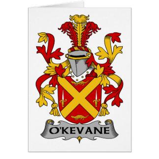 Escudo de la familia de O'Kevane Felicitacion