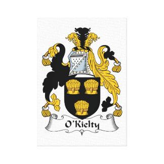 Escudo de la familia de O'Kielty Impresión En Lienzo Estirada