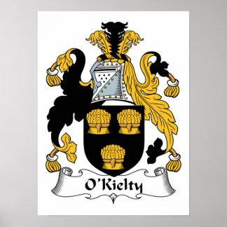 Escudo de la familia de O'Kielty Póster