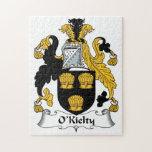 Escudo de la familia de O'Kielty Puzzle Con Fotos