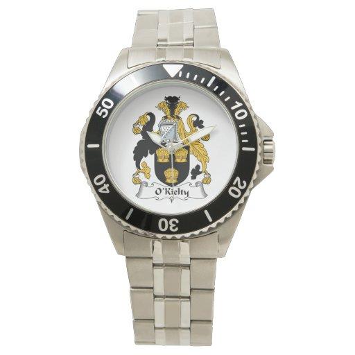 Escudo de la familia de O'Kielty Reloj