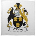 Escudo de la familia de O'Kielty Servilleta Imprimida