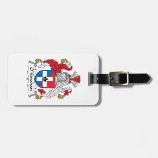 Escudo de la familia de O'Kinahan Etiquetas Bolsas