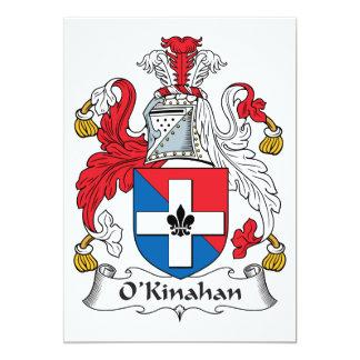 "Escudo de la familia de O'Kinahan Invitación 5"" X 7"""