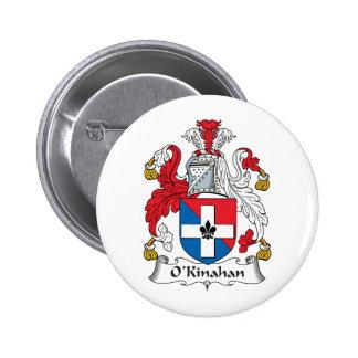 Escudo de la familia de O'Kinahan Pin Redondo 5 Cm