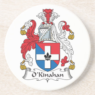 Escudo de la familia de O'Kinahan Posavasos De Arenisca