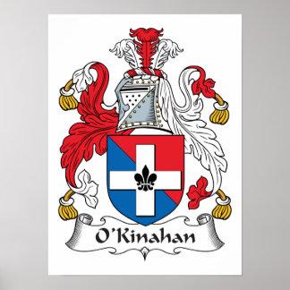 Escudo de la familia de O'Kinahan Póster