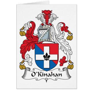Escudo de la familia de O'Kinahan Tarjeta De Felicitación