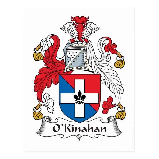 Escudo de la familia de O'Kinahan Tarjetas Postales