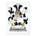 Escudo de la familia de O'Kineally Invitaciones Personales