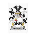Escudo de la familia de O'Kineally Impresiones De Lienzo