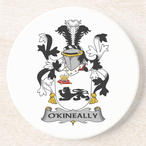 Escudo de la familia de O'Kineally Posavasos Cerveza
