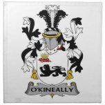Escudo de la familia de O'Kineally Servilleta De Papel