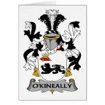 Escudo de la familia de O'Kineally Tarjeton