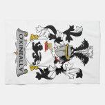 Escudo de la familia de O'Kineally Toallas De Mano