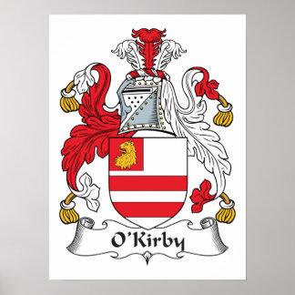 Escudo de la familia de O'Kirby Poster