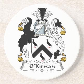 Escudo de la familia de O'Kirwan Posavasos Manualidades
