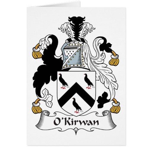 Escudo de la familia de O'Kirwan Tarjeta De Felicitación