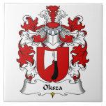 Escudo de la familia de Oksza Azulejos Cerámicos
