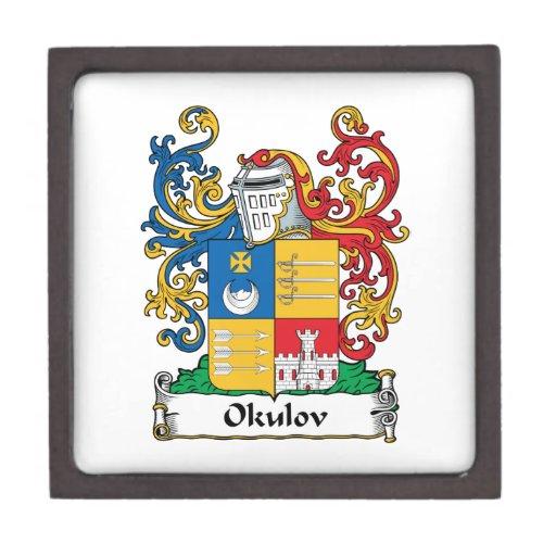 Escudo de la familia de Okulov Cajas De Regalo De Calidad
