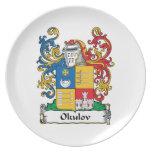 Escudo de la familia de Okulov Plato De Cena