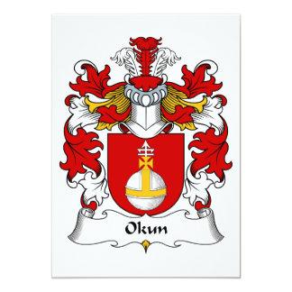 """Escudo de la familia de Okun Invitación 5"""" X 7"""""""