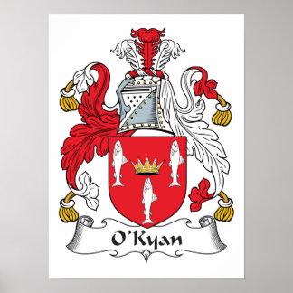 Escudo de la familia de O'Kyan Póster
