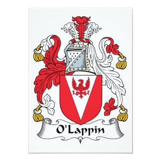 """Escudo de la familia de O'Lappin Invitación 5"""" X 7"""""""