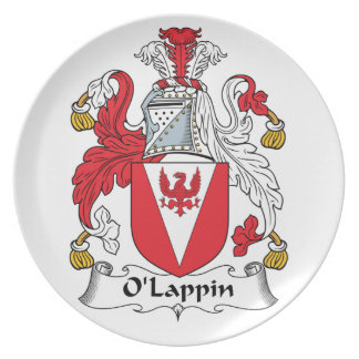 Escudo de la familia de O'Lappin Platos De Comidas