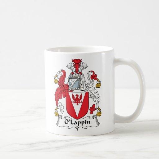 Escudo de la familia de O'Lappin Taza Básica Blanca