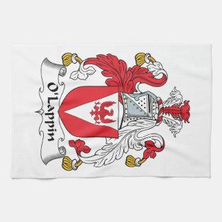 Escudo de la familia de O'Lappin Toallas De Cocina